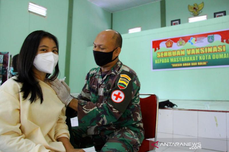 Serbuan vaksinasi oleh Kodim 0320/Dumai