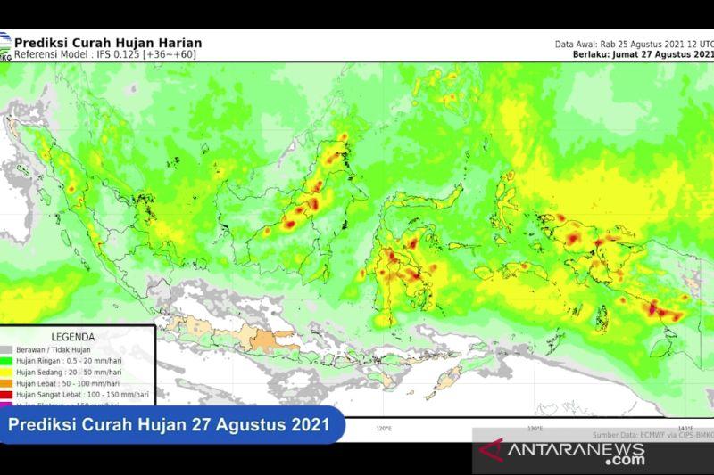 Hujan lebat guyur sebagian wilayah Indonesia