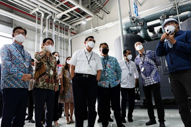 Sejumlah menteri hadiri peresmian fasilitas oksigen di Cikarang Bekasi