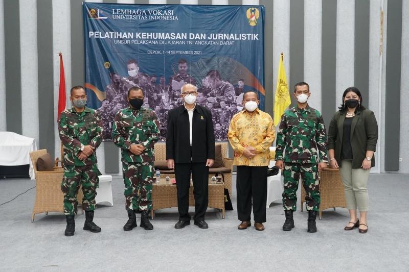 Vokasi UI bersama TNI AD gelar pelatihan kehumasan dan jurnalistik