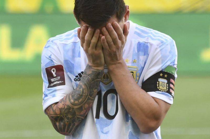 Lionel Messi kesal laga Argentina vs Brazil dihentikan gara-gara prokes