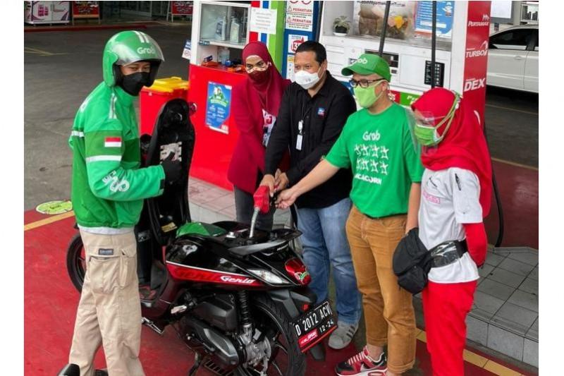 Lewat 'Pertamax Gan', mitra Grab Bike di Bandung Raya dan Priangan Timur bisa dapat motor matic