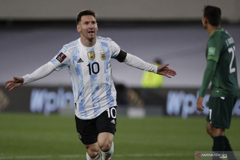 Berkat Lionel Messi, Argentina tekuk Bolivia 3-0