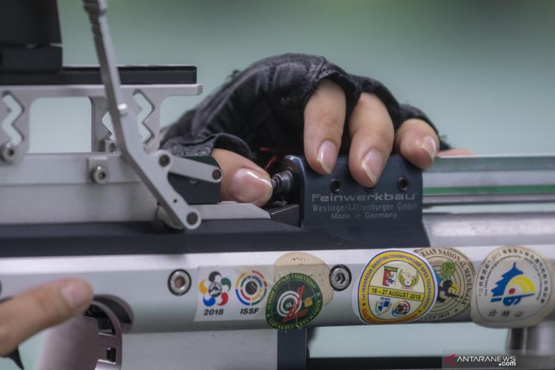 Latihan Atlet Menembak Sumatera Selatan
