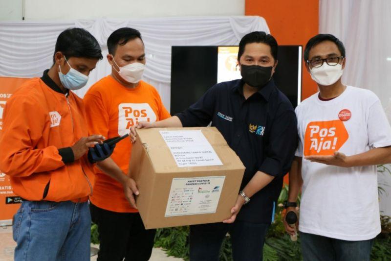 Erick Thohir apresiasi transformasi digital PT Pos Indonesia