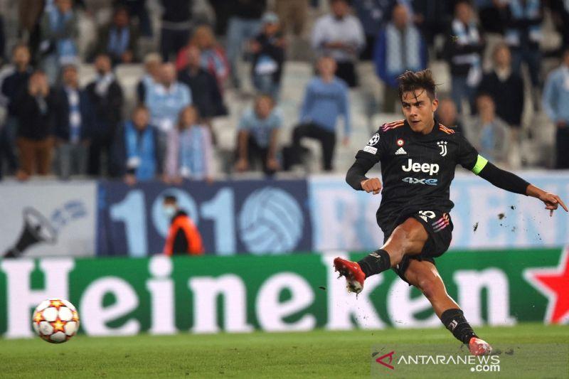 Paulo Dybala senang bisa kembali cetak gol untuk Juve di Liga Champions