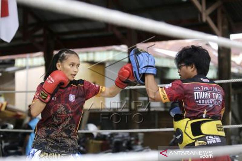 Latihan Atlet Muay Thai Gorontalo