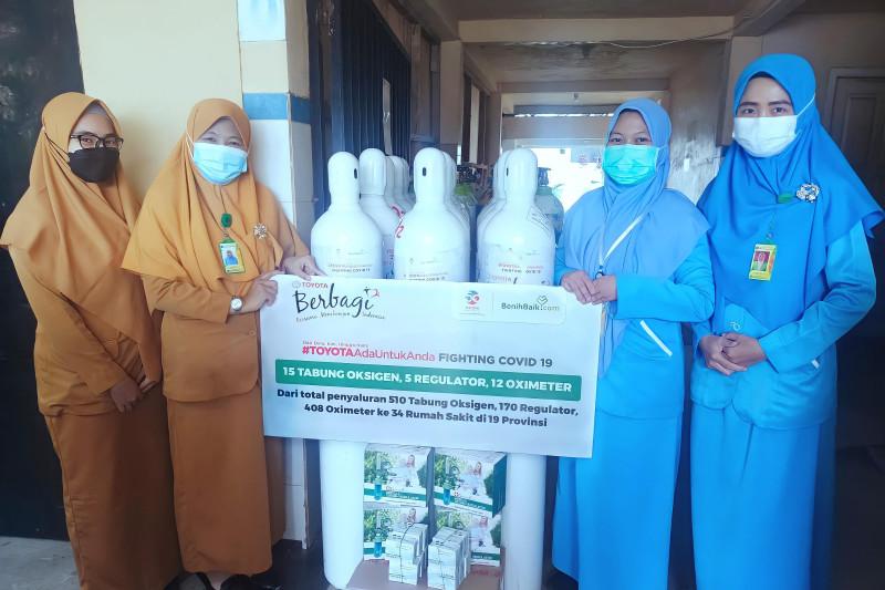 Toyota Indonesia salurkan 810 tabung oksigen ke 40 rumah sakit di Indonesia