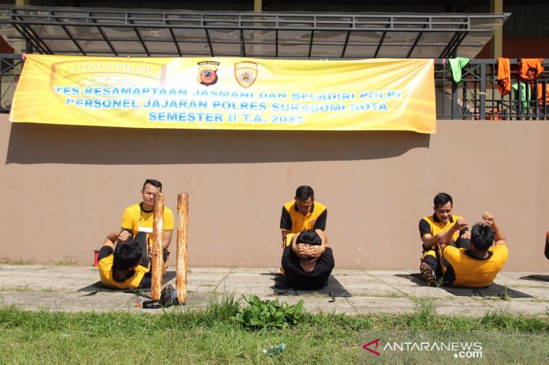 Personel Polres Sukabumi Kota jalani uji kesamaptaan jasmani