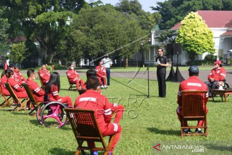 Presiden Menerima Atlet Paralimpiade Tokyo