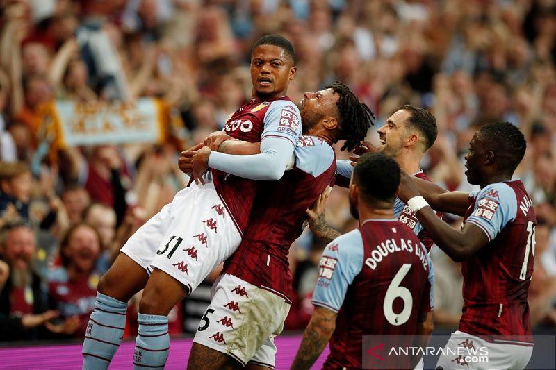 Aston Villa akhiri kemenangan Everton bersama Rafa Benitez