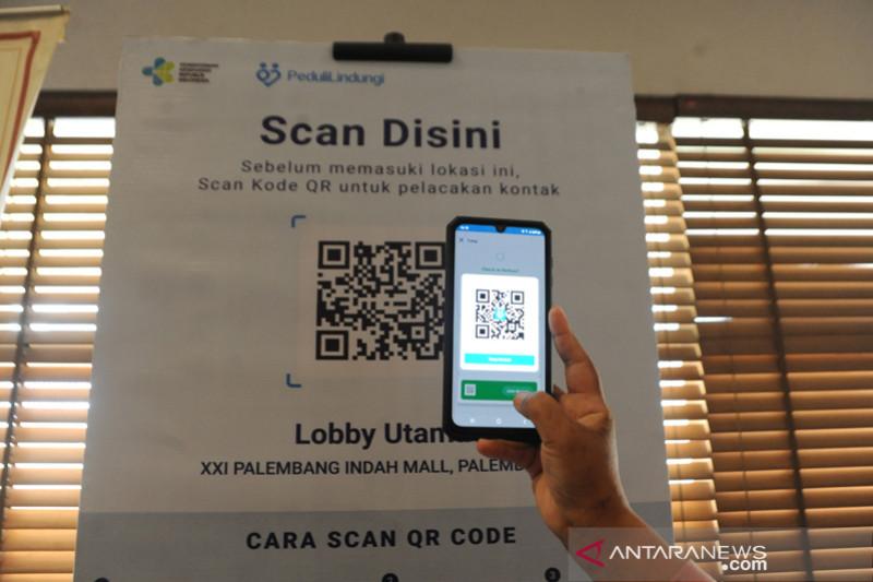 Aplikasi PeduliLindungi di Mall Palembang