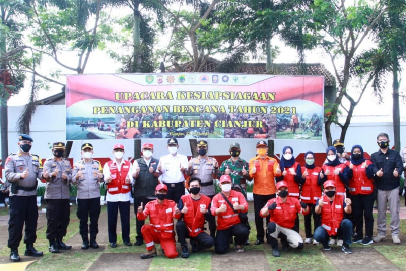 Sepanjang tahun 2021 tercatat 99 bencana alam terjadi di Cianjur