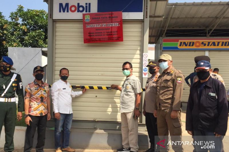 Pemerintah Kota Bekasi segel SPBU mini tidak berizin