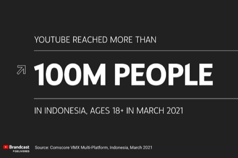 YouTube jangkau lebih dari 100 juta penonton Indonesia
