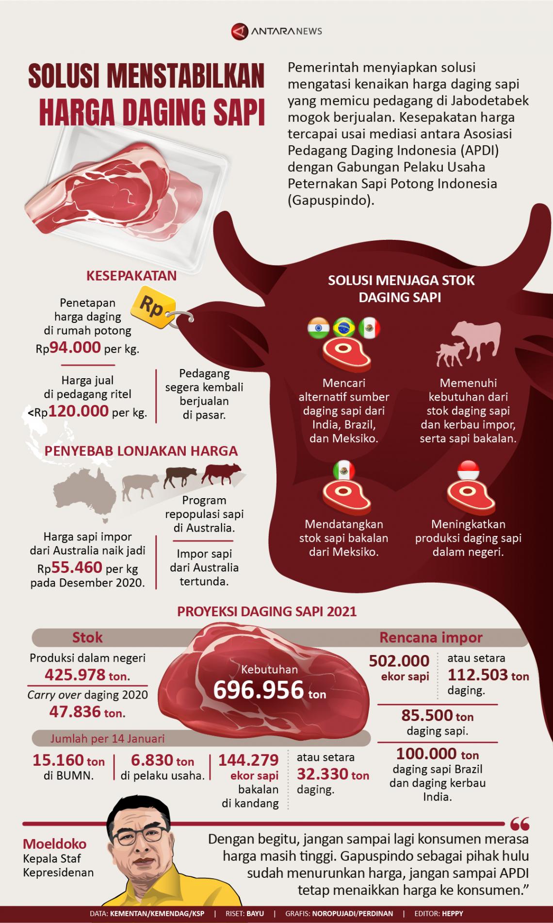 Solusi menstabilkan harga daging sapi