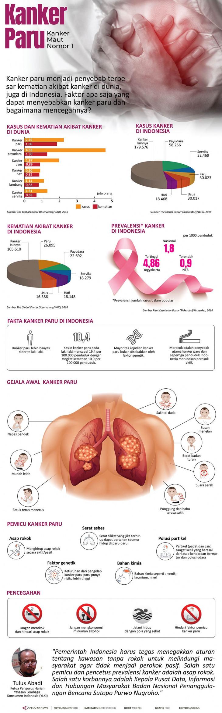 Infografik Kanker paru - ANTARA News
